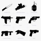 Insieme delle armi della mano Fotografia Stock Libera da Diritti