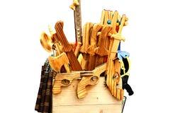Insieme delle armi di legno Fotografia Stock
