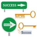 Insieme delle arti di concetto di successo. Immagini Stock