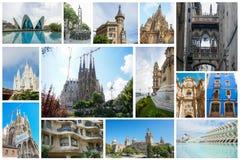 Insieme delle attrazioni spagnole Fotografia Stock
