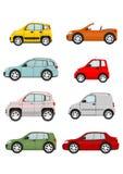 Insieme delle automobili del fumetto Fotografia Stock Libera da Diritti