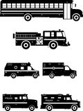 Insieme delle automobili speciali differenti Illustrazione di vettore Fotografie Stock