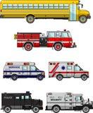Insieme delle automobili speciali differenti Illustrazione di vettore Immagini Stock Libere da Diritti
