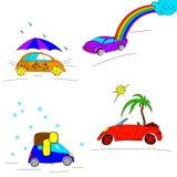 Insieme delle automobili stagionali royalty illustrazione gratis