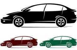 Insieme delle automobili variopinte Fotografie Stock Libere da Diritti