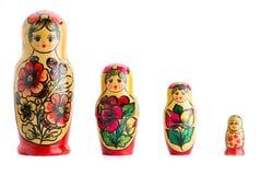 insieme delle bambole di matryoshka Immagine Stock Libera da Diritti