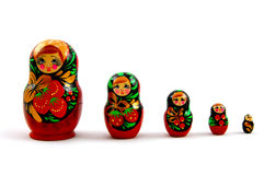 Insieme delle bambole russe Immagini Stock Libere da Diritti