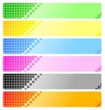 Insieme delle bandiere astratte con i pixel Fotografie Stock Libere da Diritti