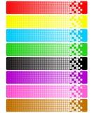 Insieme delle bandiere astratte con i pixel Fotografia Stock Libera da Diritti