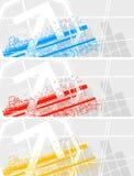 Insieme delle bandiere colourful illustrazione di stock