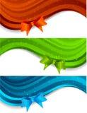 Insieme delle bandiere con l'arco Fotografia Stock Libera da Diritti