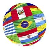 Insieme delle bandiere dei paesi sudamericani in ordine alfabetico illustrazione di stock