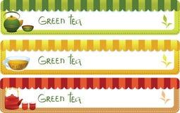 Insieme delle bandiere del tè Immagine Stock Libera da Diritti