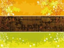 Insieme delle bandiere di autunno Fotografie Stock