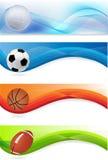 Insieme delle bandiere di sport Fotografia Stock Libera da Diritti