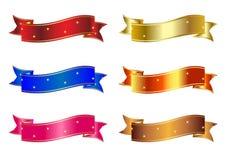 Insieme delle bandiere multicolori Fotografia Stock