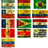 Insieme delle bandierine sudamericane Fotografie Stock Libere da Diritti