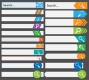 Insieme delle barre semplici di ricerca Immagini Stock Libere da Diritti