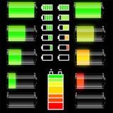 Insieme delle batterie Immagini Stock