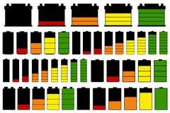 Insieme delle batterie differenti illustrazione vettoriale