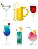 Insieme delle bevande Fotografia Stock