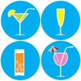 Insieme delle bevande, cocktail Immagini Stock