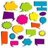 Insieme delle bolle comiche Elementi parlanti e di pensieri per il communi royalty illustrazione gratis