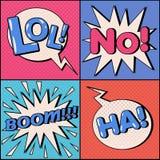 Insieme delle bolle dei fumetti nello schiocco Art Style illustrazione di stock