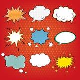 Insieme delle bolle dei fumetti nello schiocco Art Style illustrazione vettoriale