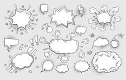 Insieme delle bolle di discorso illustrazione vettoriale