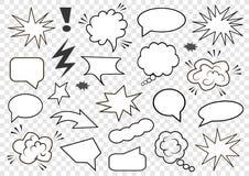 Insieme delle bolle di discorso Insieme del modello in bianco nello stile di Pop art Illustrazione di vettore illustrazione vettoriale