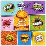 Insieme delle bolle 2 di discorso e di esplosione dei fumetti illustrazione di stock