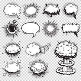 Insieme delle bolle di discorso e di esplosione dei fumetti royalty illustrazione gratis