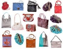 Insieme delle borse delle signore Immagine Stock