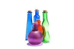 Insieme delle bottiglie Immagine Stock