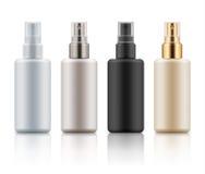 Insieme delle bottiglie cosmetiche dello spruzzo Fotografia Stock Libera da Diritti