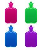 Insieme delle bottiglie d'acqua calda Immagini Stock