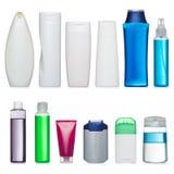 Insieme delle bottiglie di plastica Immagini Stock