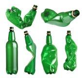 Insieme delle bottiglie di plastica Fotografie Stock