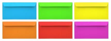 Insieme delle buste multicolori Fotografia Stock