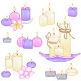 Insieme delle candele differenti Fotografia Stock