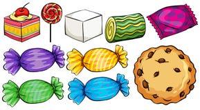 Insieme delle caramelle illustrazione di stock