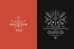 Insieme delle carte di amore Fotografia Stock