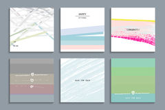 Insieme delle carte universali creative artistiche Immagine Stock