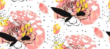 Insieme delle carte universali creative artistiche Strutture disegnate a mano Nozze, anniversario, compleanno, giorno del ` s del illustrazione vettoriale
