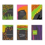 Insieme delle carte universali creative artistiche Vettore Fotografia Stock