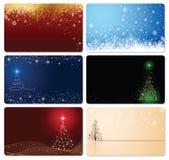 Insieme delle cartoline di Natale Immagini Stock