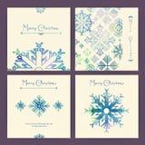 Insieme delle cartoline di Natale di festa Immagini Stock Libere da Diritti