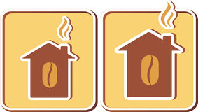 Insieme delle case di caffè Fotografia Stock