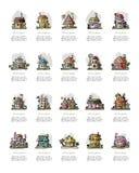 Insieme delle case, schizzo per la vostra progettazione Fotografie Stock Libere da Diritti